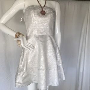 Express silver color dress